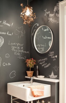 Geoff Bowley's powder room was inspired by Beastie Boys Mike D's Brooklyn home
