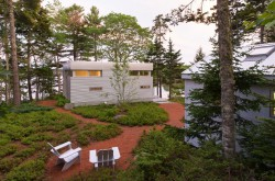 A view of the north side of the home, overlooking Tenants Harbor, ME