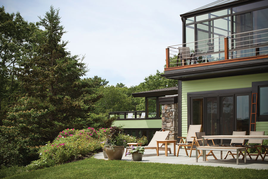 House of many visions maine home design for Maine home design