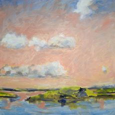 """Porcupine Islands in Pink, 2014, oil on linen, 30"""" x 30"""""""