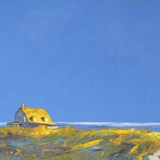 "JANIS SANDERS | Seaside, 2015, oil on panel, 40"" x 60"""