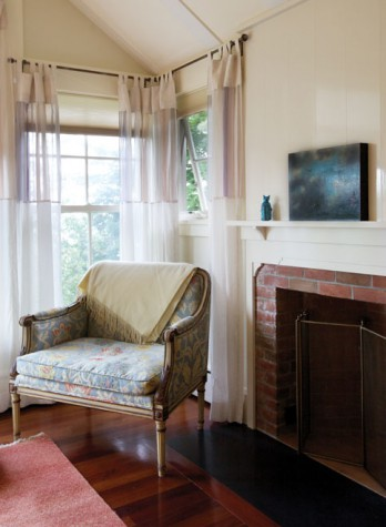 Elegant In The Corner Of A Bedroom Is A Loveseat From Weisgallu0027s Mother. A Bronze  Man In The Moon By Joseph Wheelwright And A Painting Of Icarus By Gail  Boyajian ...