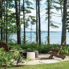 Landscape designer Duane Peckham of Little Compton, RI, relied on Landcrafters in Woolwich, ME to execute a vision of a minimally instrusive outdoor scene