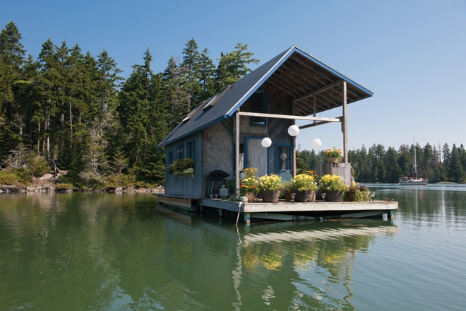 240 Square Foot Floating Cabin | Tiny Living Ideas | Live Big While Going Small | Homesteading