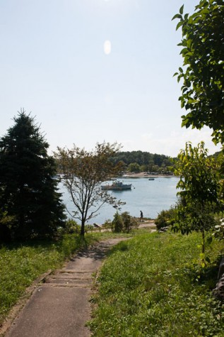 One of many walking paths along the water in York, ME