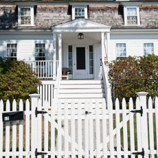 Classic New England home with a white picket fence in York