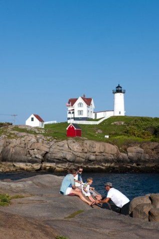 Nubble Light, also known as the Cape Neddick Lighthouse in York, ME