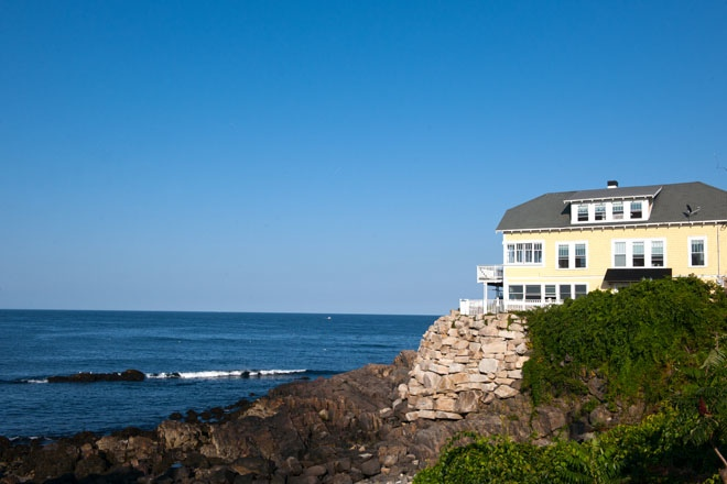 A home with a quintessential southern Maine open-ocean view