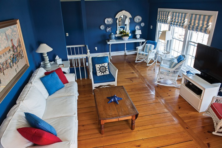 The Second Floor Living Room Has The Original Carleton Varney Roman Shades  And Dorothy Draper Wicker Chairs And Cushions. The Walls Have Been  Refreshed But ...