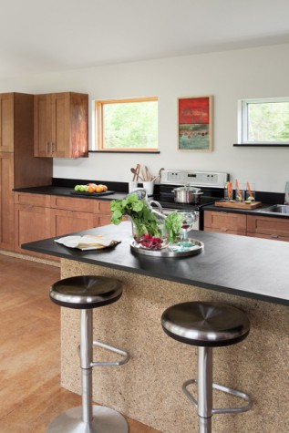 The Kitchen Features Energy Efficient Appliances, Maple Cabinets From Maine  Green Building Supply, PaperStone Countertops, And Sunflower Board For The  Base ...