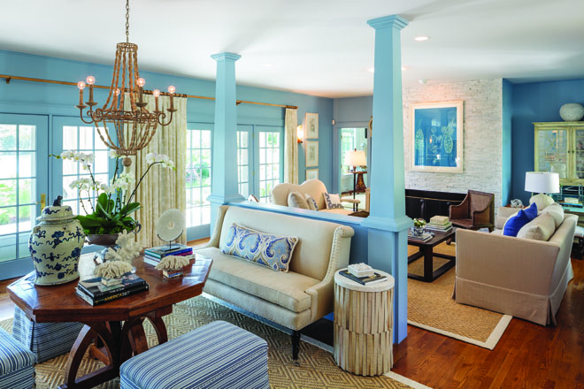 Took His Inspiration For The Living Room Great Hall And Kitchen From View Outside Of Beautiful York River Farrow Balls Lulworth Blue Colors