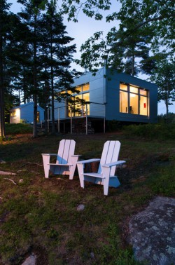 This hoe features passive solar heating, double-glazed windows, a wittus woodstove and is superinsulated