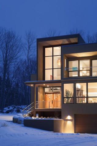 Bones Of Steel Walls Of Glass Maine Home Design