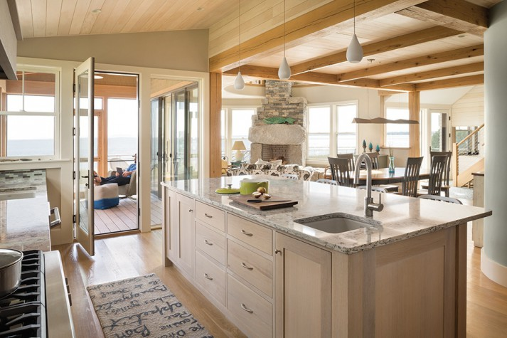 The Open Kitchen Features Cabinetry By Derek Preble A Screened Porch Allows In Fresh Ocean Breezes But Tucking It In Was A Challenge According To
