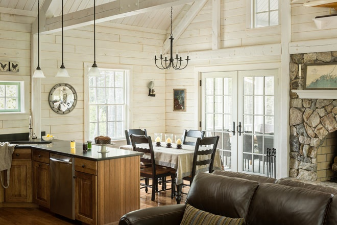 Tongue And Groove Wall Board Rustic Update Maine Home Design