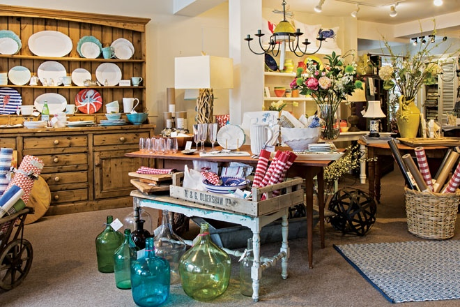 Interior Of Casual Interiors Shop In Boothbay Maine