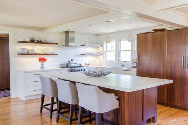 To Create A Warm, Modern Look In The Kitchen, Homeowner Adele Morris And  Designer Sarah Steinberg Incorporated Rich Walnut Cabinetry And A Range Of  ...