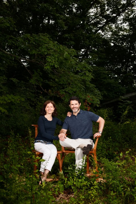 Jen And Jared Levin, Owners Of Chilton Furniture And Recent Transplants To  Maine, Pose On A Pair Of Wooden Chairs That Were Hand Carved In Solid  Cherry By ...