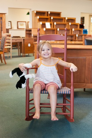 ... Phoebe, Sits On Chiltonu0027s Alfred Village Rocking Chair, A Piece That  Was Made In Collaboration With The United Society Of Shakers And Tappan  Chairs.