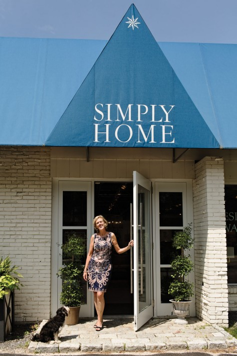 simply home design. Designer Linda Banks outside her newly refreshed Simply Home store in  Falmouth Refresh Maine Design