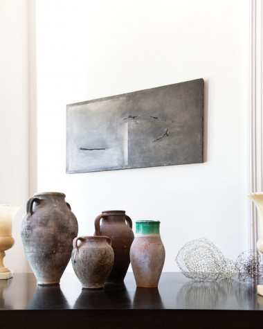A Table By Portland Furniture Maker Brian Burwell Sits In The Living Room,  Holding A Collection Of Ancient Turkish Urns And A Trio Of Maquettes For  Larger ...