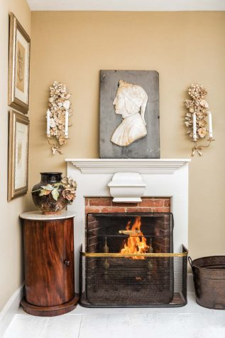 In What Is Now A Guestroom, The Fireplace Was Previously Covered Up With  Drywall And The Pine Floor Was Painted Red. Rather Than Scrape Back What  Was ...