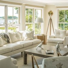 Red, White and Views   Falmouth   Maine Home+Design