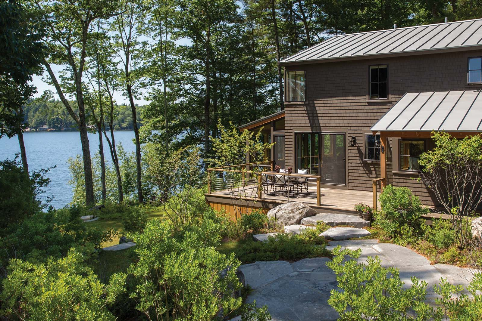All for the lake whitten architects maine home design for Maine home plans