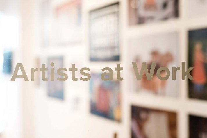 The Door To The Artists At Work Gallery And Offices, A Program That  Connects Students And Alumni To Professional Opportunities.