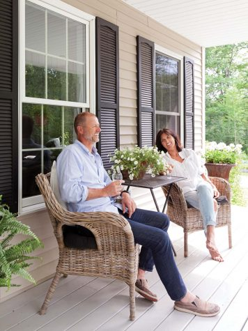 The Joergensens bought they English dining table from Antiques on Nine in  Kennebunk  A friend made new covers for the chairs  which are from Pottery  Barn Norwegian Transplants   Maine Home   Design. Porch Dining Room Kennebunkport. Home Design Ideas