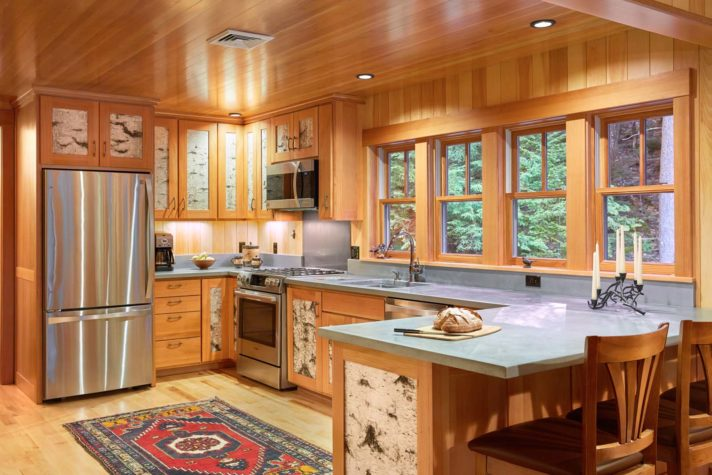 In The Kitchen Of Kirk And Kathy Goddardu0027s Freeport Home, Kirk Designed The  U201cLu201d Part Of The Counter To Be Detachable. When The Couple Have Dinner  Parties, ...