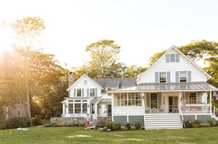 Two Houses in One - Maine Home + Design on stone underground homes, stone saltbox homes, stone ranch homes, stone queen anne victorian homes, stone cottage homes, stone cape cod homes, stone modular homes, stone cabin homes, stone farm homes, stone igloo homes, stone tudor homes, stone silo homes,