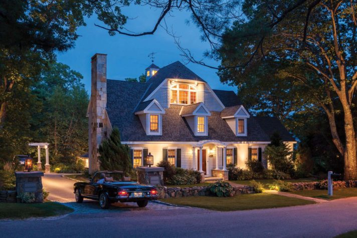 kennebunkport wine room lighting. Once A Cape With Three Doghouse Dormers, This Kennebunk Home Was Renovated In Two Stages. New Exterior Features Visible Here Include Third Floor Kennebunkport Wine Room Lighting I