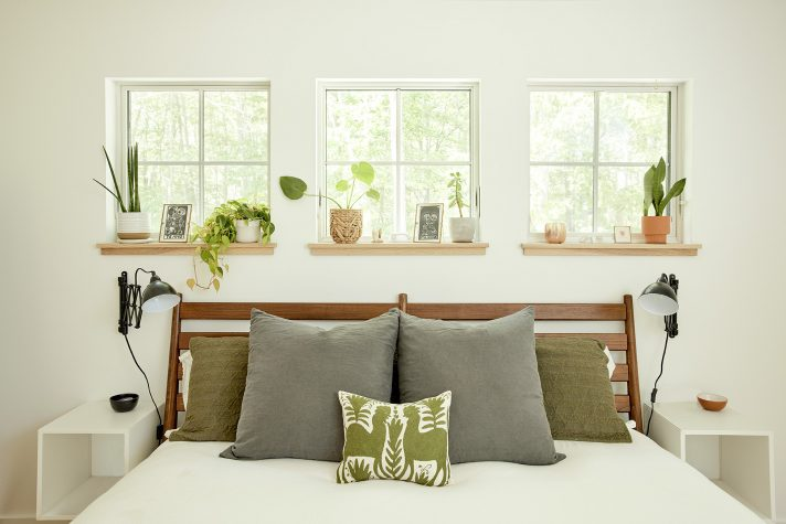 The light and airy master bedroom.