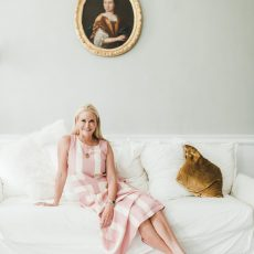 Jan Haedric, designer and founder of MME.MINK at home in Wiscasset