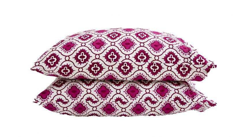 Plum pillowcases