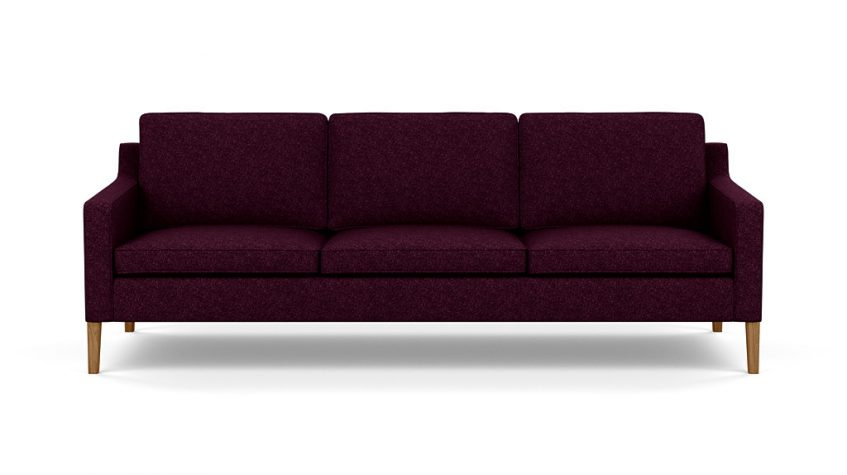 Plum sofa