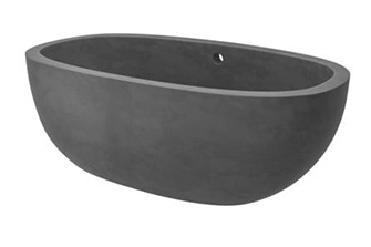 This tub hewn from rock is the perfect accent