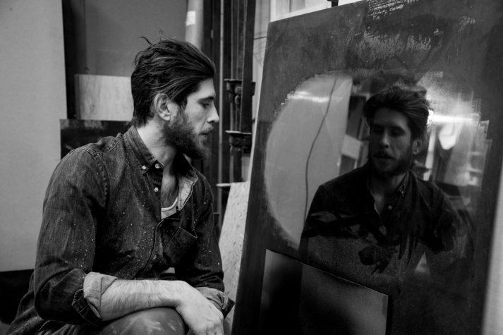 Stefan Rurak looking in the mirror